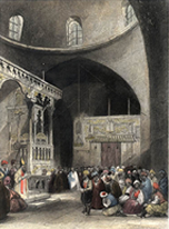 "Sinagoga - Colección ""Jerusalem in 19th Century Art"" de James E. Lancaster, Ph.D.  http://ljames1.home.netcom.com/oldprints.html"